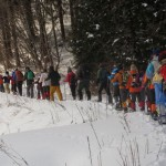 スノーシューで蒜山ハイキングツアーを開催しました