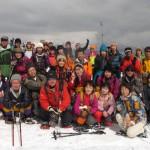 スノーシュー体験三平山登山ツアーを開催しました