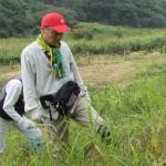 犬挟り湿原の保全活動を行いました