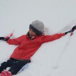 クロスカントリースキーで天空下りツアーを開催しました