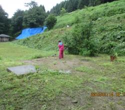 7月14日三平山ログハウス付近草刈りIMG_0228