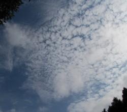 秋の雲巻雲