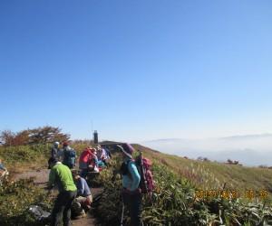 中蒜山頂上と雲海
