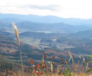 蒜山盆地(三平山中腹より)