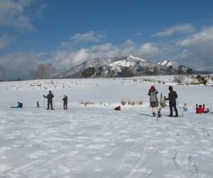 蒜山雪恋祭りスノーシュウ無料体験、