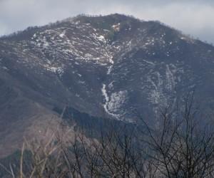 3月21日残雪の上蒜山