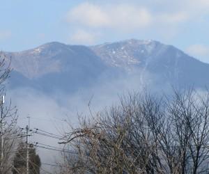 3月28日残雪の上蒜山