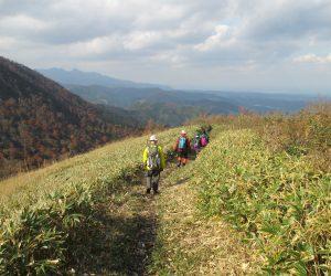 中蒜山から上蒜山への縦走路