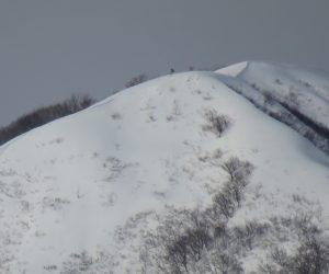 1/17  上蒜山8合目付近 雪庇が出来始めています