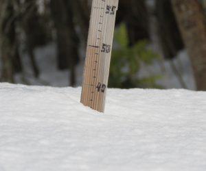 1/20  積雪37㎝、雪が解けたわけでは無く沈んで積雪が減りました。