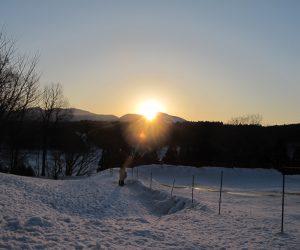 蒜山雪恋祭り ⑧三平山に落ちる夕日
