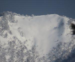 2/15  上蒜山山頂付近稜線  茅部野より撮影