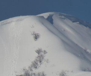 2/15  上蒜山8合目付近  茅部野より撮影