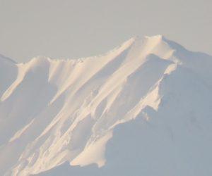 2/15  新雪の大山  夕方茅部野より撮影