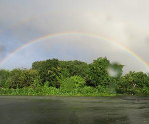 9/18 朝の虹