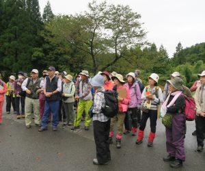 津黒自然観察会  出発前のミーティング