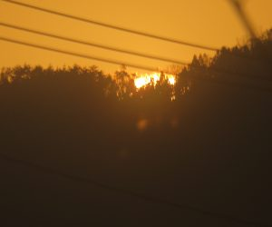 12/23 日の出  蒜山の日の出は場所によって10分以上違います。 茅部野の西端で7時30分くらい。