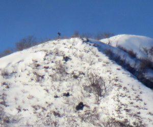 12/30 上蒜山8合目付近  まだ雪庇が出来るほどの積雪が有りません