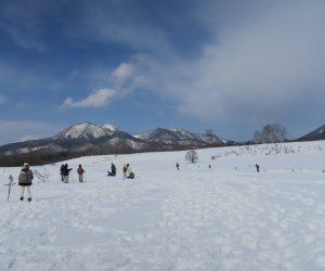 雪恋祭り2月3日 ⑤皆ヶ山をバックに雪原に遊ぶ