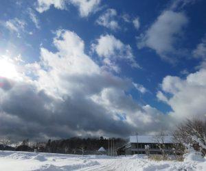 1/25 雪晴れ