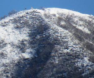 3/23 新雪の上蒜山8合目付近