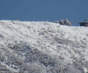 3/23 新雪の中蒜山山頂と避難小屋