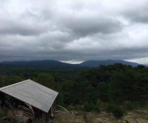 三平山ロッジからの雨雲