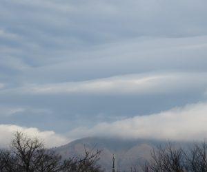 25日 吊るし雲  上蒜山上空に大きな吊るし雲