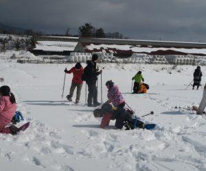 雪恋祭りスノーシュー体験 9新雪にダイブ