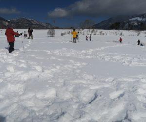 雪恋祭りスノーシュー体験 8僕の後に道が出来る