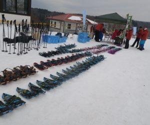 雪恋祭りスノーシュー体験 14 2日目のスノーシュウ整列