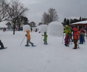 雪恋祭りスノーシュー体験 17出発