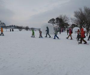 雪恋祭りスノーシュー体験 18その調子