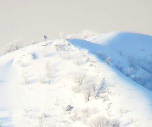 2/10 上蒜山8合目付近の新雪