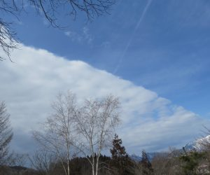2/15 前線の雲 10分ほどで全天を覆いました
