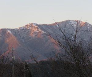 2/26   夕日を浴びる上蒜山