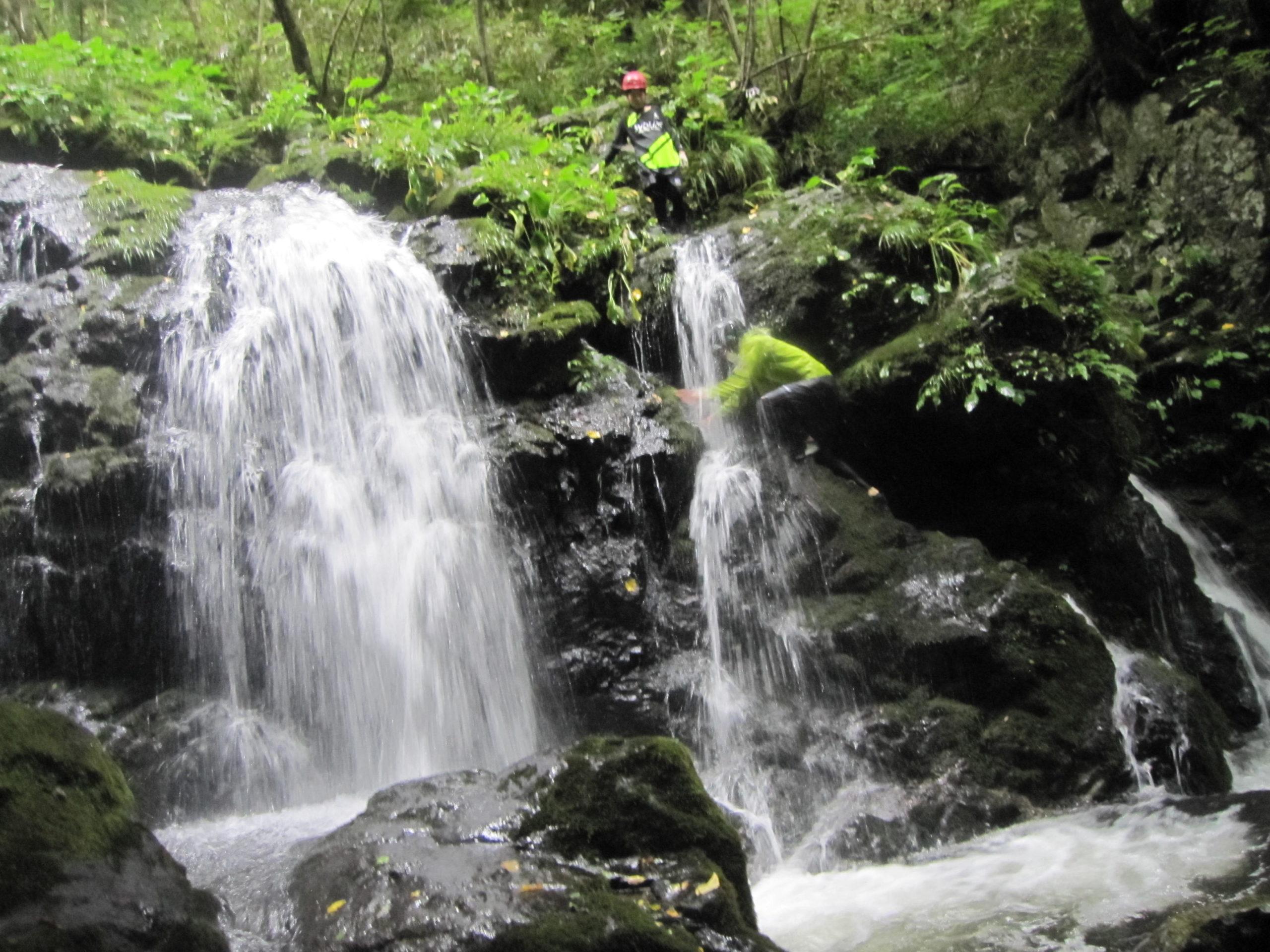 リバートレッキング1の滝