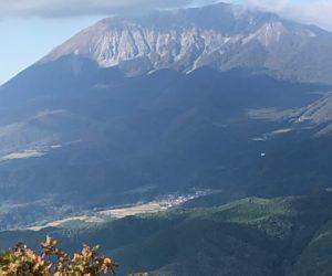 三平山から大山を望む